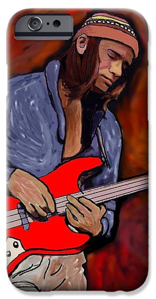 Pastorius iPhone Cases - Jaco iPhone Case by Rob Peters