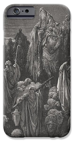 Jacob Goeth Into Egypt iPhone Case by Gustave Dore