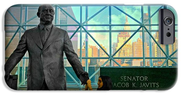 Former Senators iPhone Cases - Jacob K. Javits iPhone Case by Diana Angstadt