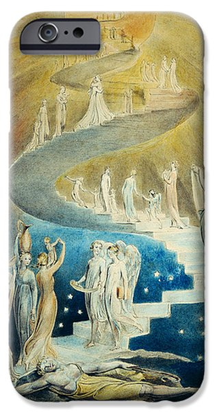 William Blake iPhone Cases - Jacobs Dream iPhone Case by William Blake