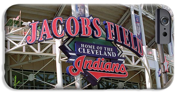 Best Sellers -  - Business Photographs iPhone Cases - Jacobs Field - Cleveland Indians iPhone Case by Frank Romeo