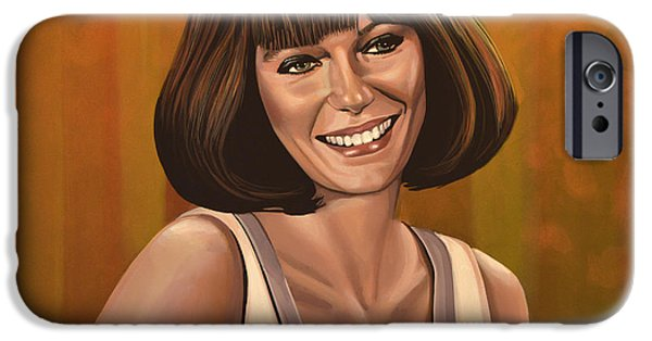 Town iPhone Cases - Jacqueline Bisset iPhone Case by Paul  Meijering