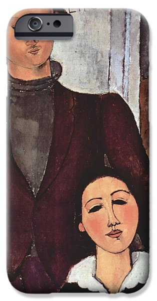 Berthe Paintings iPhone Cases - Jacques and Berthe Lipchitz iPhone Case by Celestial Images