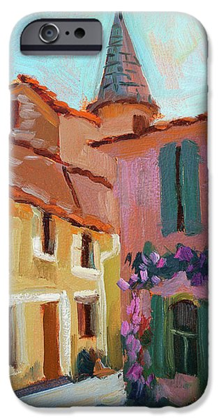 Provence Village iPhone Cases - Jacques House iPhone Case by Diane McClary