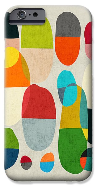 Contemporary Abstract iPhone Cases - Jagged little pills iPhone Case by Budi Satria Kwan