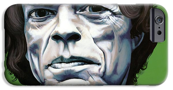 Famous Faces iPhone Cases - Jagger iPhone Case by Kelly Jade King