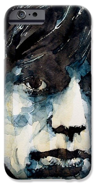 Legend iPhone Cases - Jagger no3 iPhone Case by Paul Lovering