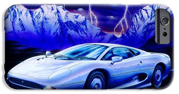 1980s iPhone Cases - Jaguar 220 iPhone Case by Garry Walton