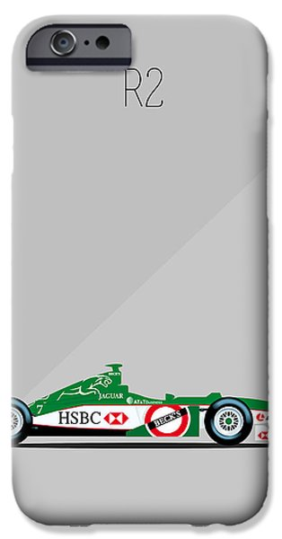 Circuit iPhone Cases - Jaguar Cosworth R2 F1 iPhone Case by Florian Rodarte