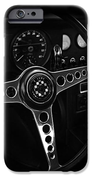 Jaguar E Type Interior iPhone Case by Mark Rogan
