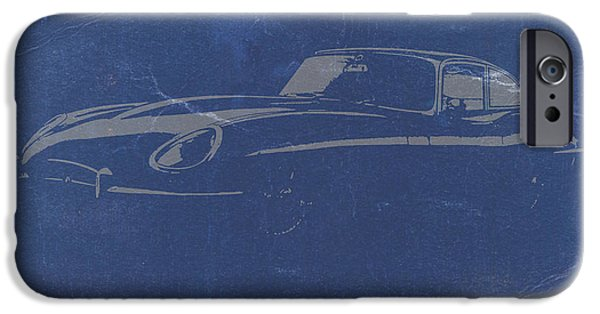 Old Digital iPhone Cases - Jaguar E Type iPhone Case by Naxart Studio