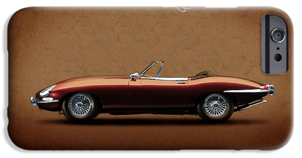 Jaguars iPhone Cases - Jaguar E-Type Series 1 iPhone Case by Mark Rogan