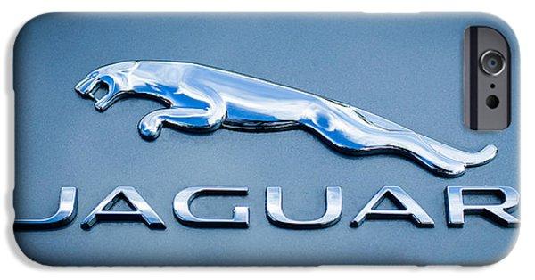 Jaguars iPhone Cases - Jaguar F Type Emblem iPhone Case by Jill Reger