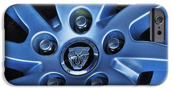 Stainless Steel Frame iPhone Cases - Jaguar Hub Cap iPhone Case by Marcus Dagan