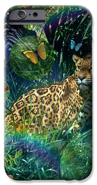 Botanical Photographs iPhone Cases - Jaguar Meadow iPhone Case by Alixandra Mullins