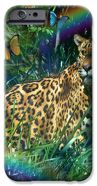 Jaguar Meadow  Variant 1 iPhone Case by Alixandra Mullins