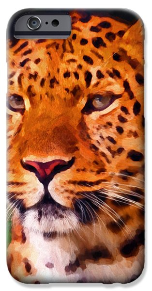 Preditor iPhone Cases - Jaguar iPhone Case by Michael Pickett