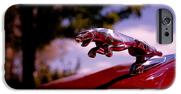 Automotive iPhone Cases - Jaguar iPhone Case by Rona Black