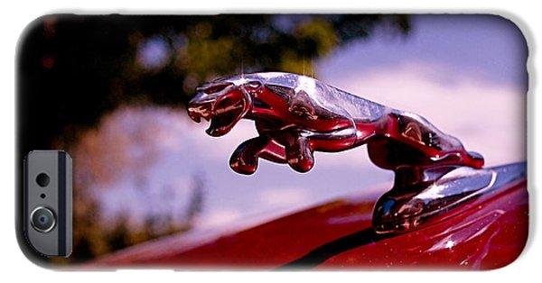 Automotive iPhone Cases - Jaguar iPhone Case by Rona Black