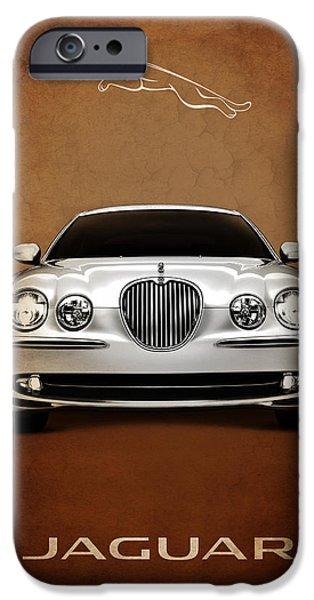 Jaguars iPhone Cases - Jaguar S Type iPhone Case by Mark Rogan
