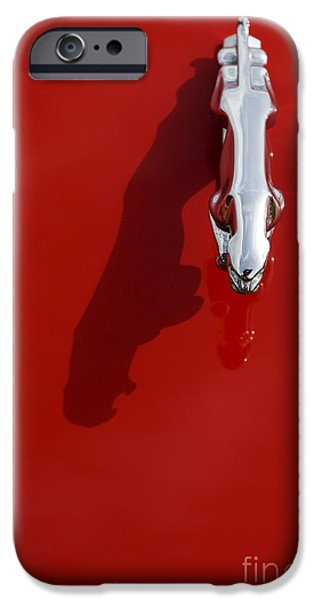 Jaguar XJS Hood Ornament Abstract iPhone Case by Tim Gainey