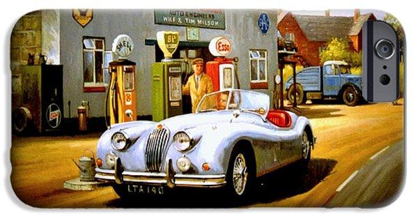 Jaguars iPhone Cases - Jaguar XK 140 iPhone Case by Mike  Jeffries