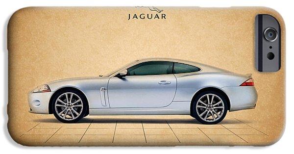 Jaguars iPhone Cases - Jaguar XK iPhone Case by Mark Rogan
