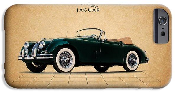 Jaguars iPhone Cases - Jaguar XK150 iPhone Case by Mark Rogan