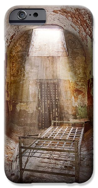 Police Art iPhone Cases - Jail - Eastern State Penitentiary - 50 years to life iPhone Case by Mike Savad