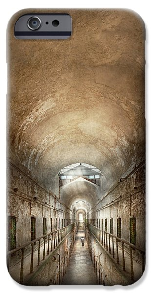 Police Art iPhone Cases - Jail - Eastern State Penitentiary - End of a journey iPhone Case by Mike Savad