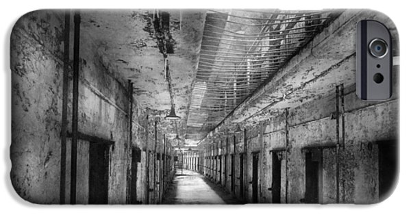 Police Art iPhone Cases - Jail - Eastern State Penitentiary - The forgotten ones  iPhone Case by Mike Savad