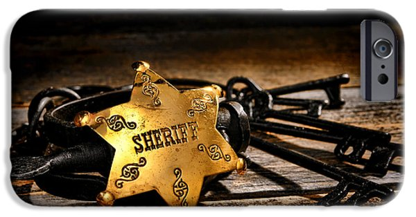 Sheriff iPhone Cases - Jailer Tools iPhone Case by Olivier Le Queinec