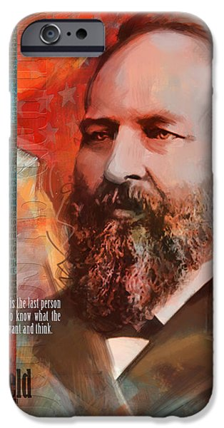 James A. Garfield iPhone Case by Corporate Art Task Force