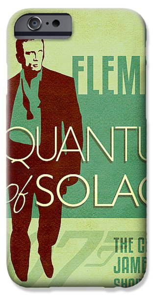 Book Of Daniel iPhone Cases - James Bond Book Cover Movie Poster Art 1 iPhone Case by Nishanth Gopinathan