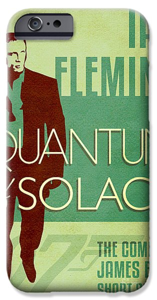 Book Of Daniel iPhone Cases - James Bond Book Cover Movie Poster Art 2 iPhone Case by Nishanth Gopinathan