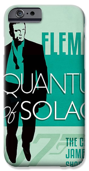 Book Of Daniel iPhone Cases - James Bond Book Cover Movie Poster Art 3 iPhone Case by Nishanth Gopinathan