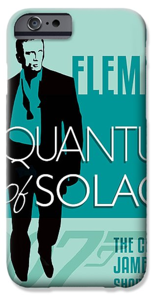Book Of Daniel iPhone Cases - James Bond Book Cover Movie Poster Art 4 iPhone Case by Nishanth Gopinathan