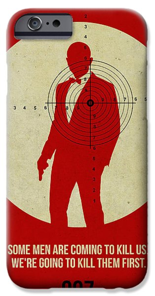 Tv Show iPhone Cases - James Bond Skyfall Poster iPhone Case by Naxart Studio