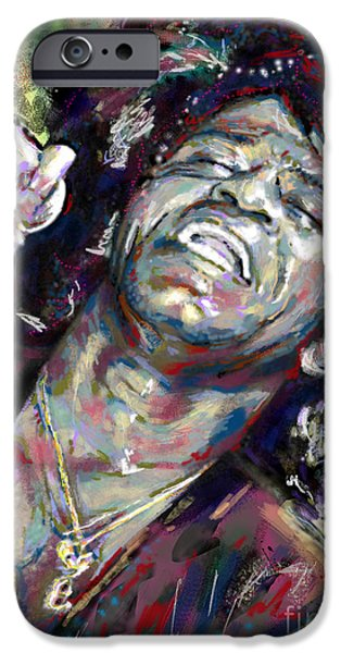 Art Of Soul Music iPhone Cases - James Brown Painting iPhone Case by Ryan RockChromatic
