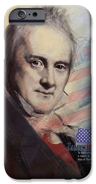 Thomas Jefferson Paintings iPhone Cases - James Buchanan iPhone Case by Corporate Art Task Force