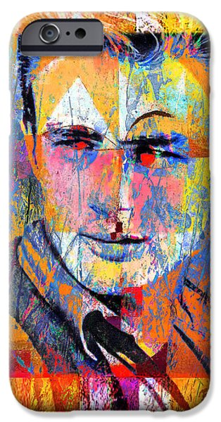 James Dean iPhone Cases - James Byron Dean iPhone Case by Mal Bray