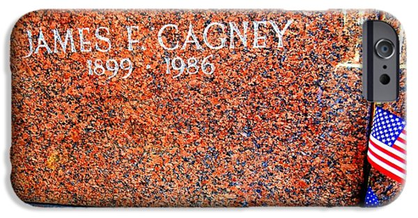 Cemetary iPhone Cases - James Cagney iPhone Case by Ed Weidman