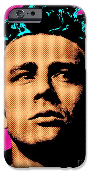 Cultural Icon iPhone Cases - James Dean 001 iPhone Case by Bobbi Freelance