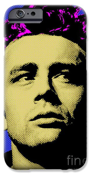 Cultural Icon iPhone Cases - James Dean 002 iPhone Case by Bobbi Freelance