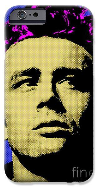 James Dean iPhone Cases - James Dean 002 iPhone Case by Bobbi Freelance