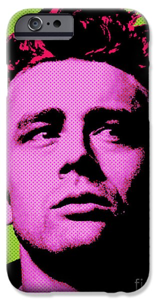 Cultural Icon iPhone Cases - James Dean 003 iPhone Case by Bobbi Freelance