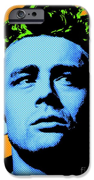 Cultural Icon iPhone Cases - James Dean 004 iPhone Case by Bobbi Freelance