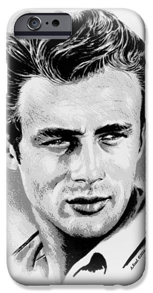 1950s Movies iPhone Cases - James Dean iPhone Case by Andrew Read