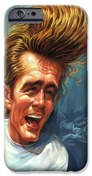 Handsome People iPhone Cases - James Dean iPhone Case by Art