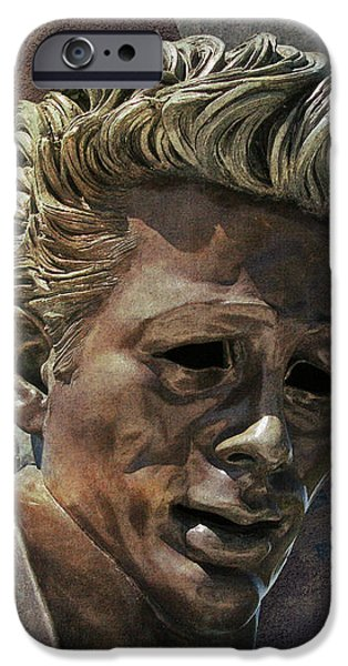 James Dean iPhone Case by Bedros Awak